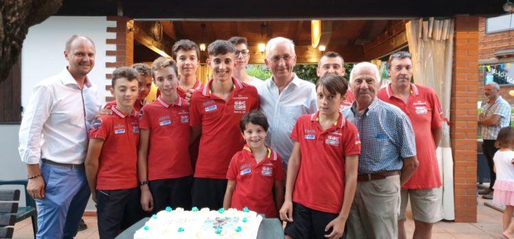 Cazzano in festa per il giovane ciclista Simone Gualdi