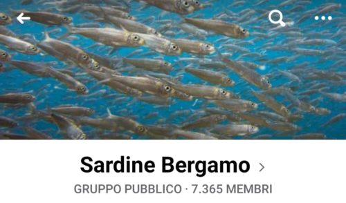 Sardine anche a Bergamo, in migliaia nel gruppo Facebook