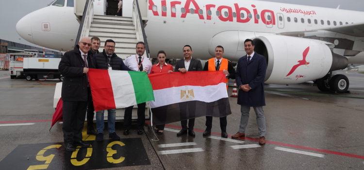 Inaugurato volo diretto Air Arabia tra Orio al Serio e Il Cairo