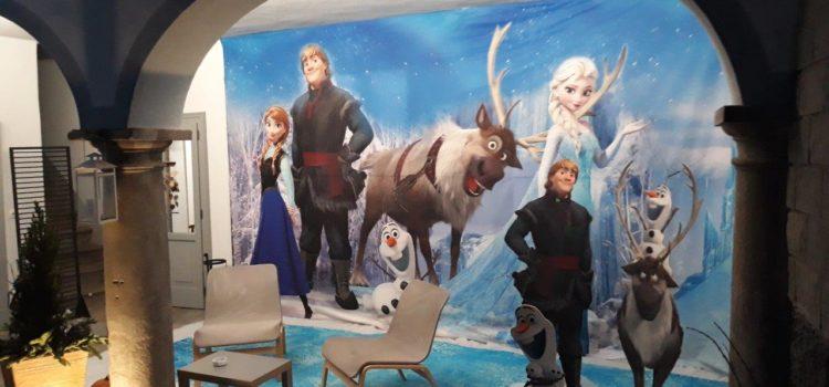 Frozen 2 vi aspetta al cinema: a Gandino allestito il set