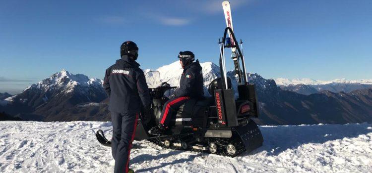 Sulle piste da sci anche i Carabinieri sciatori