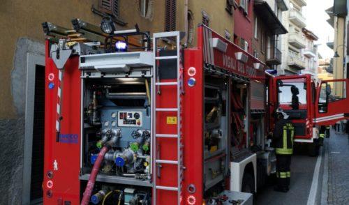 Gazzaniga, incendio in un appartamento
